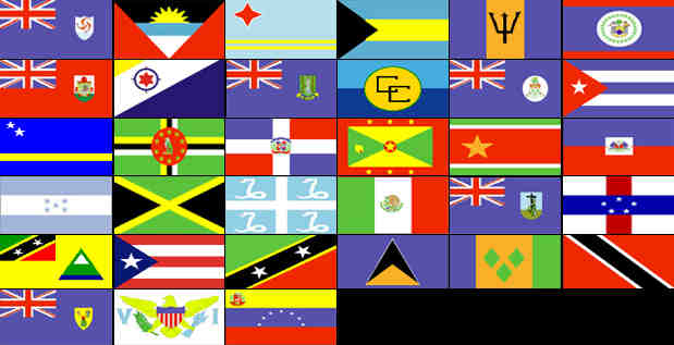 caribbean, flags